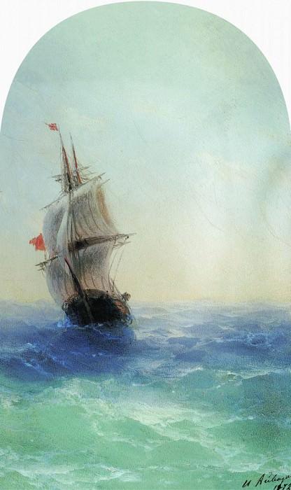 swelling sea 1872 29h18. Ivan Konstantinovich Aivazovsky