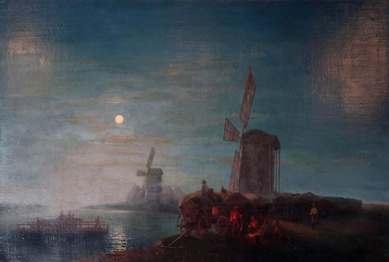 Windmill. Ivan Konstantinovich Aivazovsky