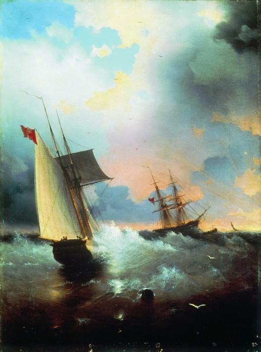 Парусник 1859 72.5х58,5. Иван Константинович Айвазовский