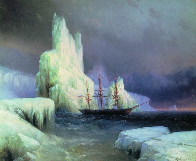Icy Mountains in Antarctica in 1870 110,5 h130, 5. Ivan Konstantinovich Aivazovsky