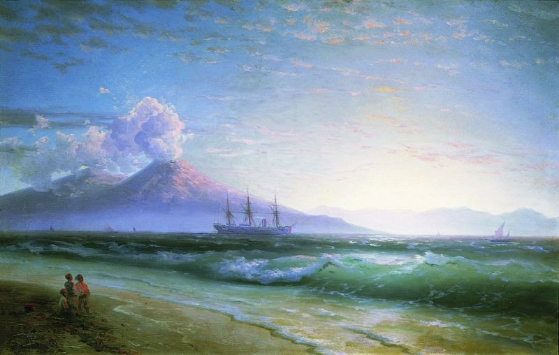 Bay of Naples early in the morning 1897 61h94. Ivan Konstantinovich Aivazovsky