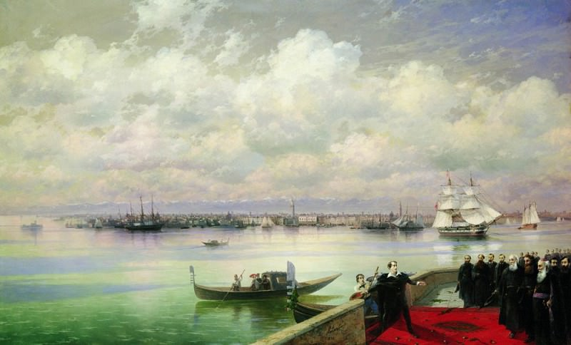 Visiting Byron Mkhitarian on the island of St. Lazarus in Venice in 1899 133h218. Ivan Konstantinovich Aivazovsky