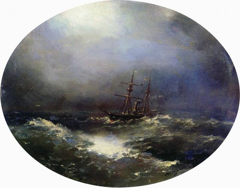 Sea view 1900 24x30. Ivan Konstantinovich Aivazovsky