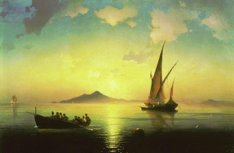 Bay of Naples 1841 73h108. Ivan Konstantinovich Aivazovsky
