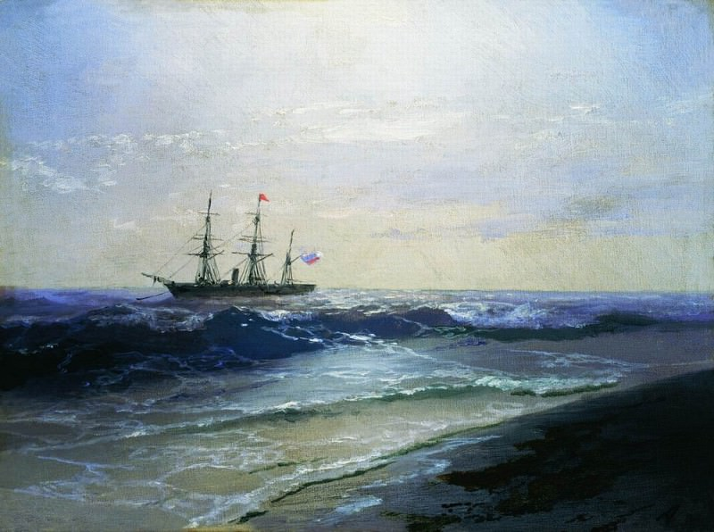 Sea. Sunny Day 17h21. Ivan Konstantinovich Aivazovsky