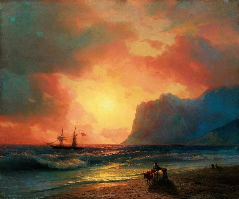 Sunset at Sea 1866. Ivan Konstantinovich Aivazovsky