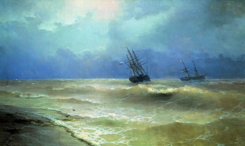 Surf the Crimean coast in 1892 130h217. Ivan Konstantinovich Aivazovsky