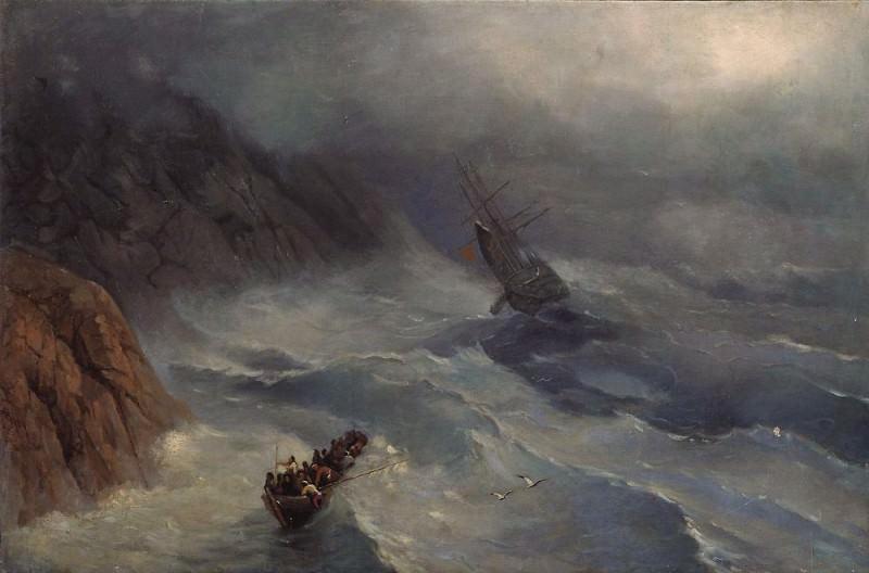 swelling sea. Ivan Konstantinovich Aivazovsky