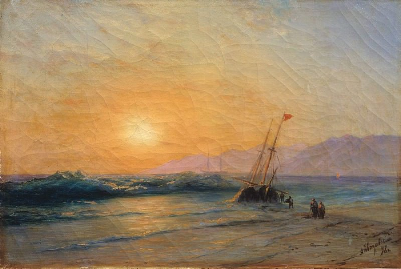 Sunset at Sea 1898. Ivan Konstantinovich Aivazovsky