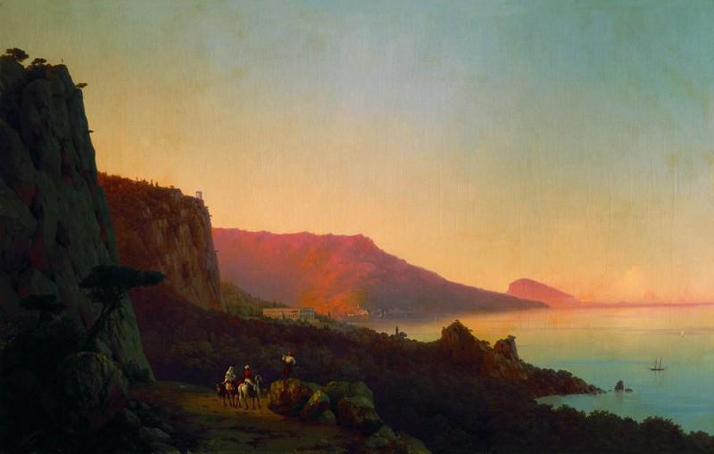 Evening in the Crimea. Yalta 1848 126h196. Ivan Konstantinovich Aivazovsky