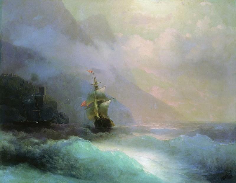Seascape 1870 132h162. Ivan Konstantinovich Aivazovsky