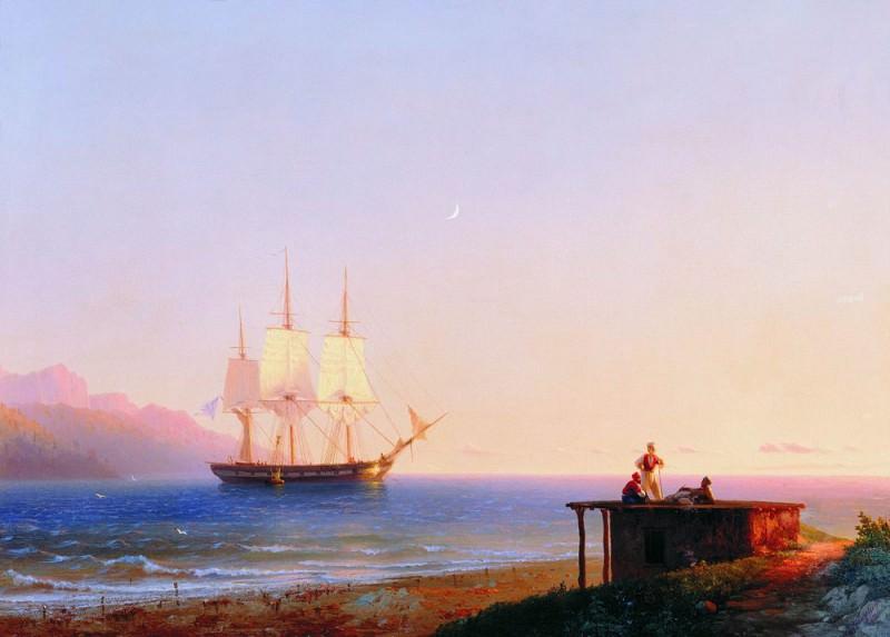 Frigate Sailing 1838 57h82. Ivan Konstantinovich Aivazovsky
