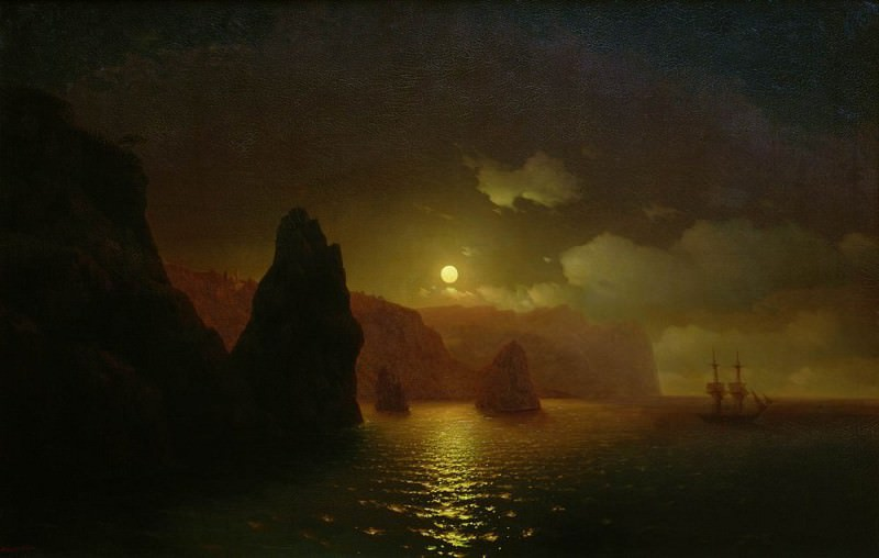 St Georges Monastery. Cape Fiolent 1846 122,5 h192, 5. Ivan Konstantinovich Aivazovsky