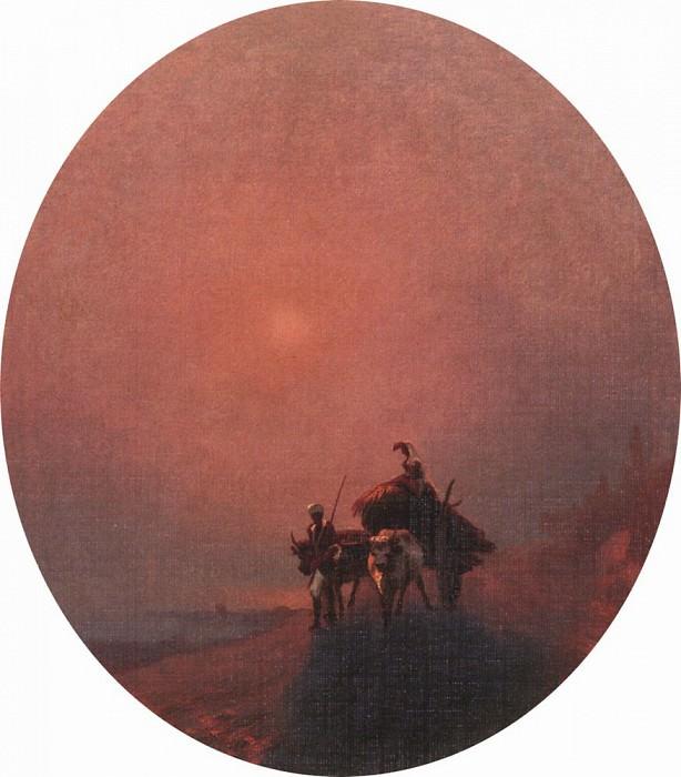 In the fog 1879 44x39. Ivan Konstantinovich Aivazovsky