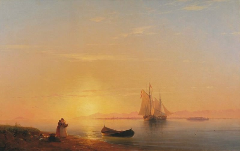 Dalmatian Coast 1848 123h192. Ivan Konstantinovich Aivazovsky