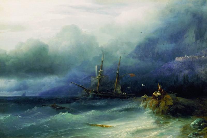 Буря 1857 100х49. Иван Константинович Айвазовский