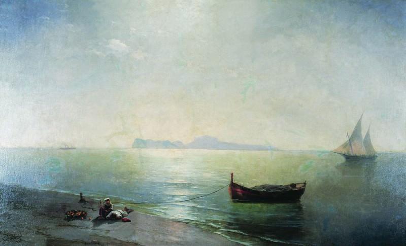 Calm. Type of Capri. Mediterranean 1892 216h345. Ivan Konstantinovich Aivazovsky