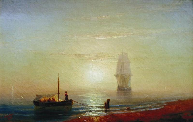 Sunset at Sea 1848 36h43. Ivan Konstantinovich Aivazovsky