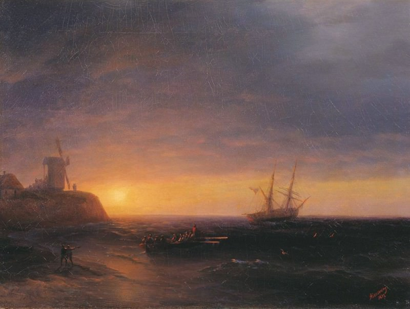 Закат на море 1878. Иван Константинович Айвазовский