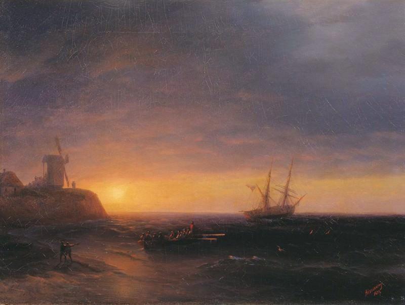 Sunset at Sea 1878. Ivan Konstantinovich Aivazovsky