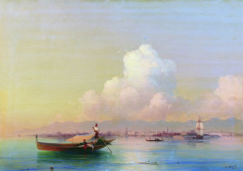 Type of Venice from the Lido 1855 71h99, 5. Ivan Konstantinovich Aivazovsky