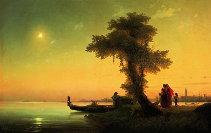 View on the Venetian Lagoon 1841 76h118. Ivan Konstantinovich Aivazovsky