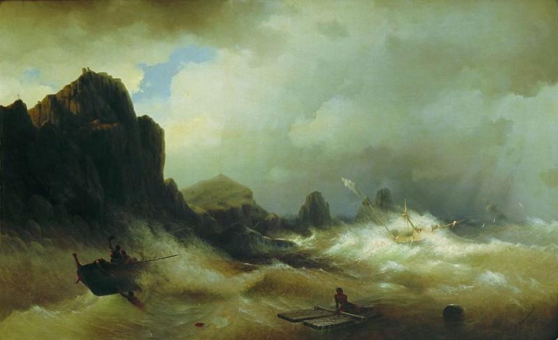 Кораблекрушение 1843 116х189. Иван Константинович Айвазовский