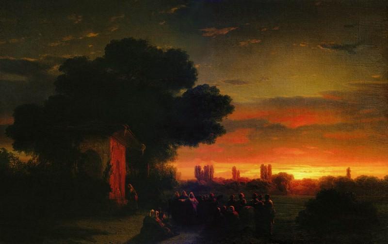 Type in the Crimea at sunset 1862 59h83. Ivan Konstantinovich Aivazovsky