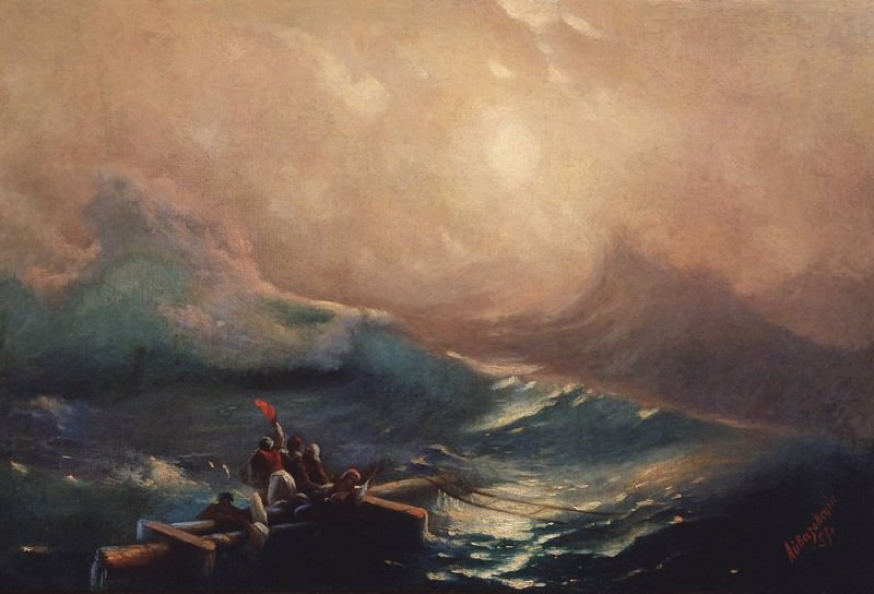 The Ninth Wave. Etude 1857. Ivan Konstantinovich Aivazovsky