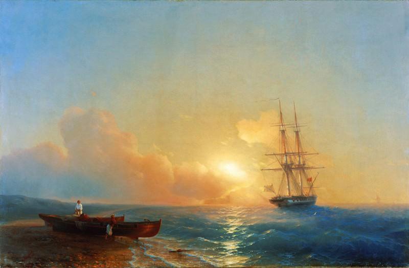 Fishermen on beregumorya1852 93,5 h143. Ivan Konstantinovich Aivazovsky
