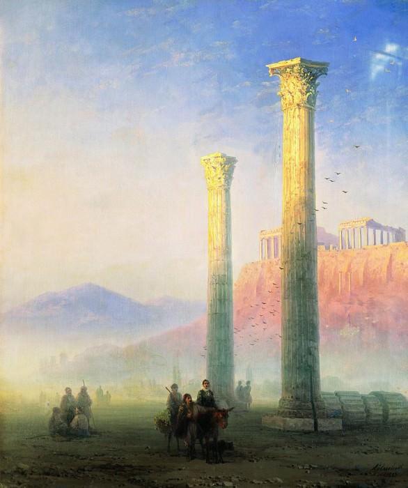 Acropolis of Athens 1883 74,5 X63, 5. Ivan Konstantinovich Aivazovsky