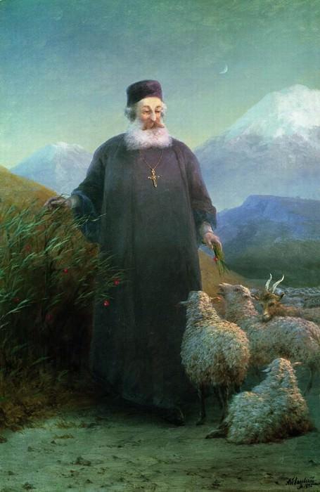 Catholicos Khrimyan Irick around Echmiadzin 1895. Ivan Konstantinovich Aivazovsky