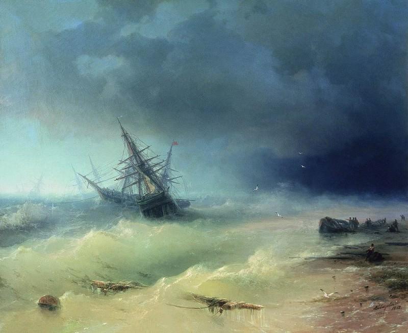 Storm 1872 110h130. Ivan Konstantinovich Aivazovsky