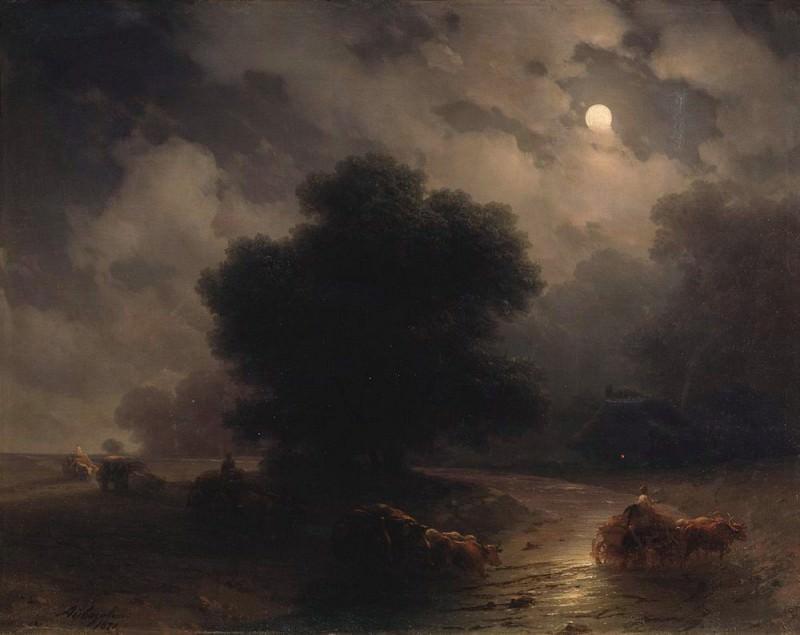 Night in the Ukraine in 1871. Ivan Konstantinovich Aivazovsky