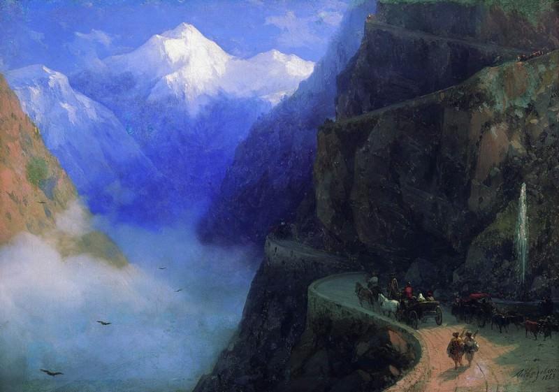 Roads of Mljet to Gudauri 1868 40x60. Ivan Konstantinovich Aivazovsky