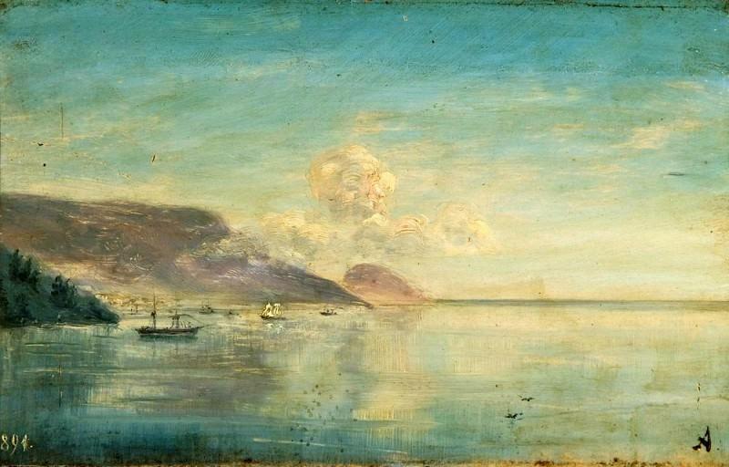Laguna. Etude in 1891. Ivan Konstantinovich Aivazovsky