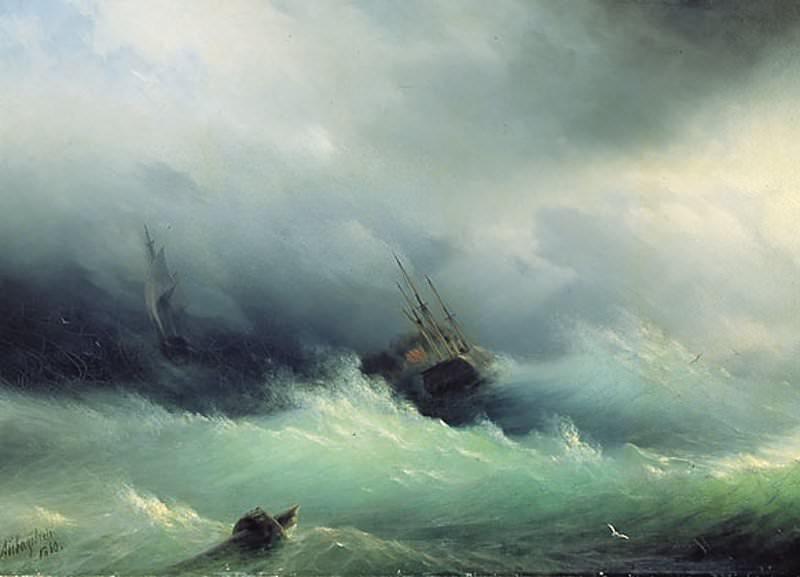 Stormy Sea 1860 80,5 h117. Ivan Konstantinovich Aivazovsky