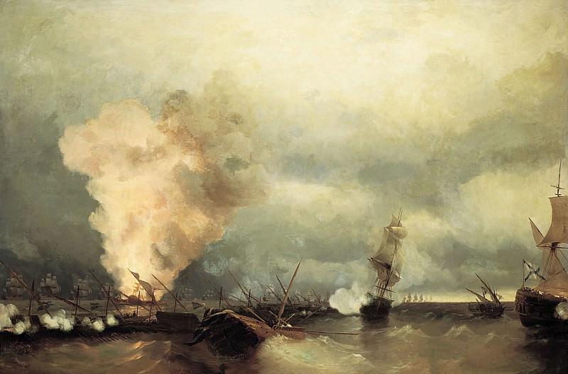 Sea battle at Vyborg, June 29, 1790 1846 222h335. Ivan Konstantinovich Aivazovsky
