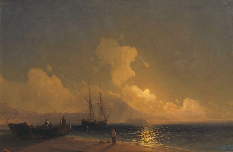 Night on the Sea-2. Ivan Konstantinovich Aivazovsky