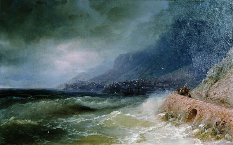 surf off the coast of the Crimea in 1880 47h75. Ivan Konstantinovich Aivazovsky