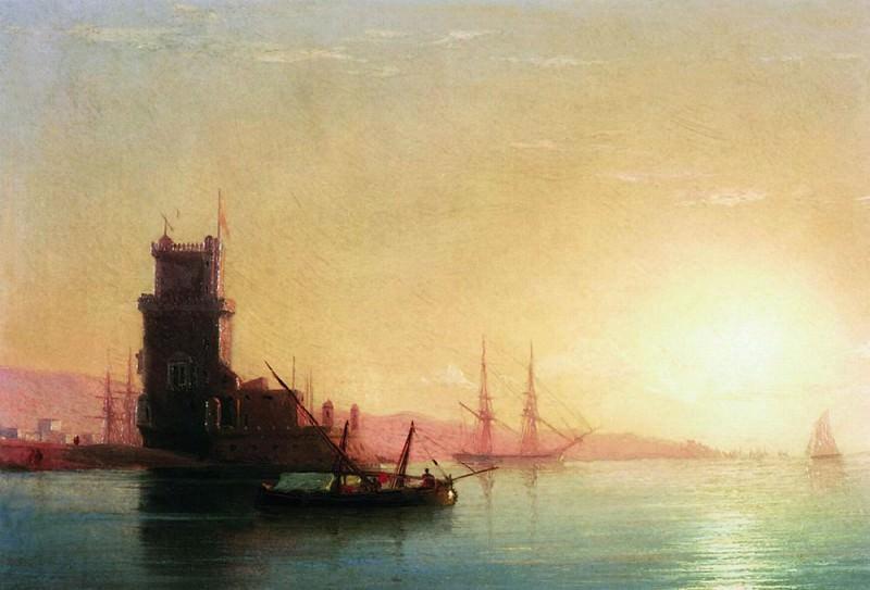 Lisbon. Sunrise 1860 42h55. Ivan Konstantinovich Aivazovsky