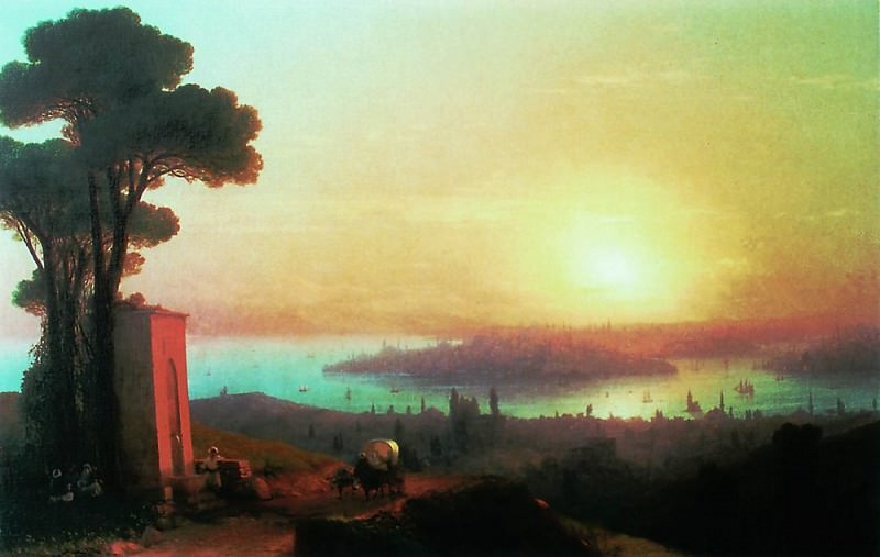 Type of Constantinople with Chamlicha 1870 120h188. Ivan Konstantinovich Aivazovsky
