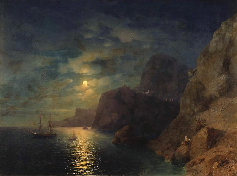 Sea Night 1861. Ivan Konstantinovich Aivazovsky
