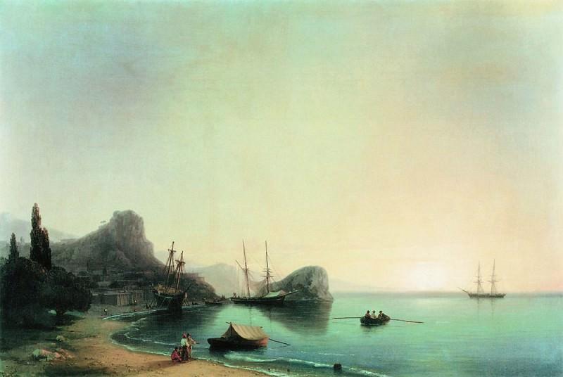 Italian landscape 1855 95h142, 5. Ivan Konstantinovich Aivazovsky