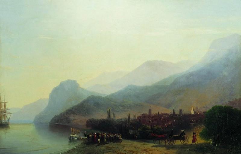 Алушта 1878 61х91. Иван Константинович Айвазовский