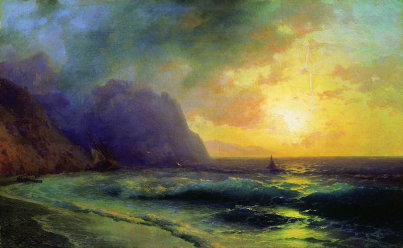 Sunset at Sea 1853 50h76. Ivan Konstantinovich Aivazovsky