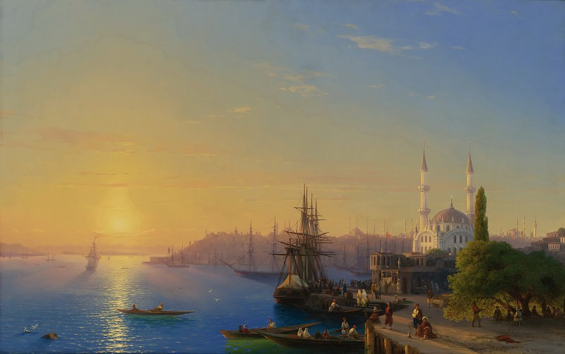 View of Constantinople and the Golden Horn. Ivan Konstantinovich Aivazovsky