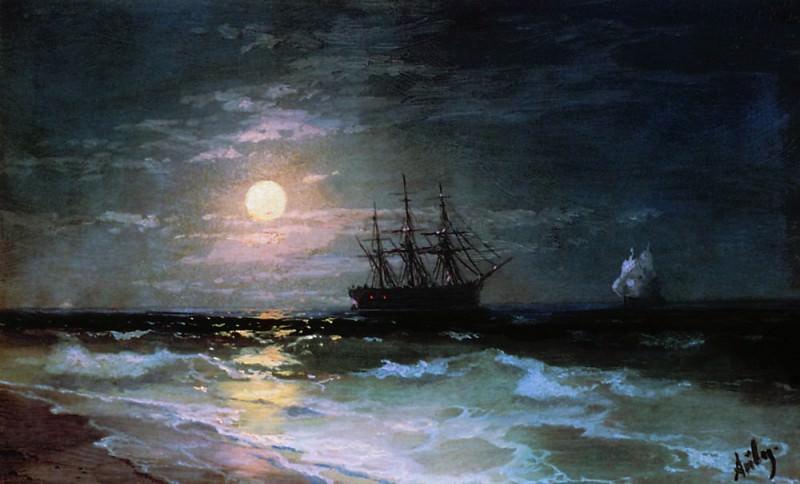 Moonlight 1870. Ivan Konstantinovich Aivazovsky