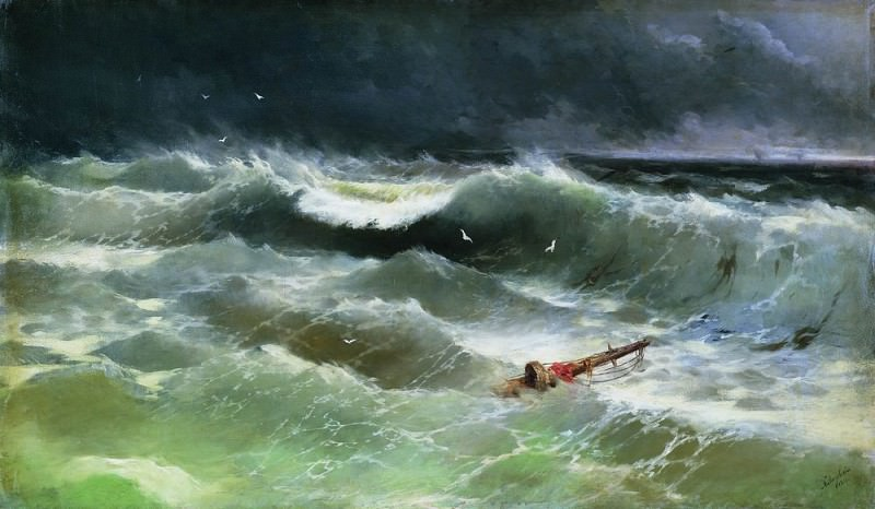 Storm 1886 84h142. Ivan Konstantinovich Aivazovsky