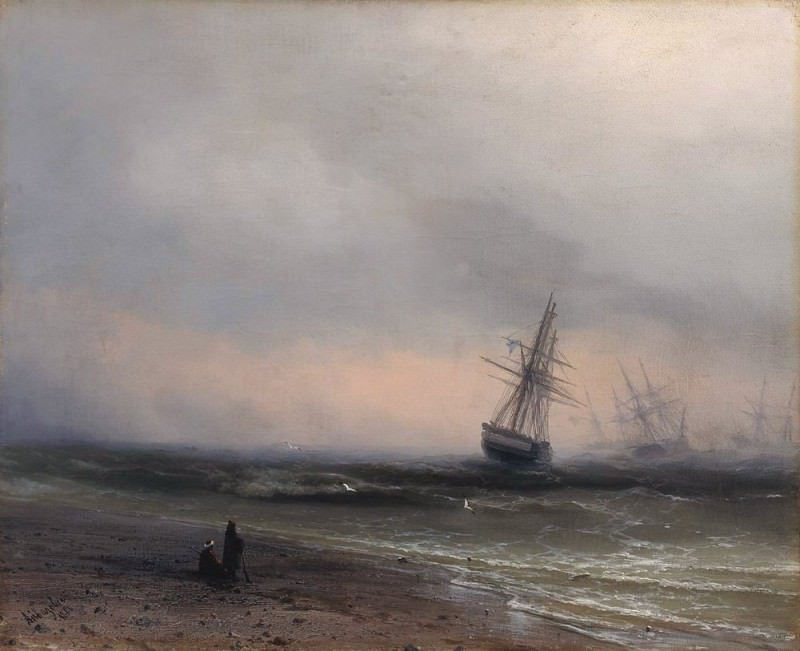 Seascape in Crimea 1866. Ivan Konstantinovich Aivazovsky